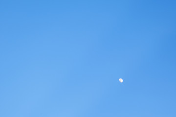 Blue sky and moon background for creative