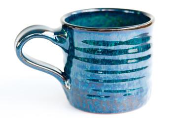 Blue handmade mug
