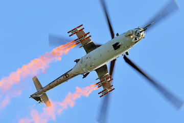 Mi-24 - heavy combat helicopter.