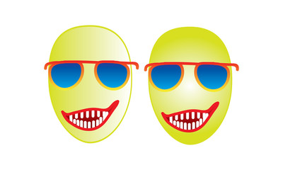 Funny Emoji Face Cartoon Happy Smile Emoji Illustration