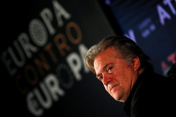 """Former White House Chief Strategist Steve Bannon attends the """"Atreju 2018"""" meeting organised by Fratelli d'Italia party in Rome"""