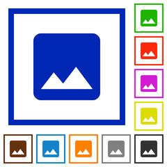 Single image flat framed icons