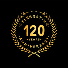 120 years design template. 85th vector and illustration.