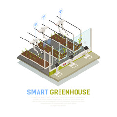 Isometric Smart Hothouse Background