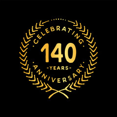 140 years design template. 85th vector and illustration.