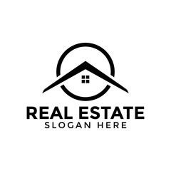 Circle real estate logo icon design template