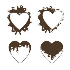 Heart-set-chocolate