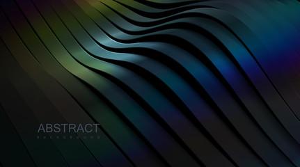 Obraz Sliced wavy surface. - fototapety do salonu