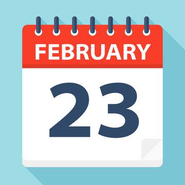 February 23 - Calendar Icon