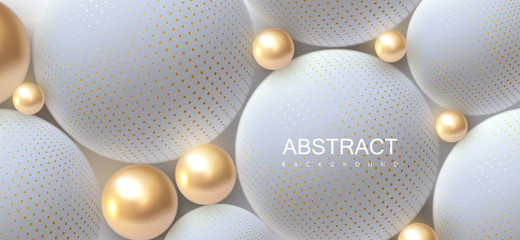 Abstract background with 3d spheres.