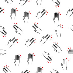 pain in the finger  icon in pattern style. One of pain collection icon can be used for UI, UX