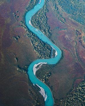 Windy blue River