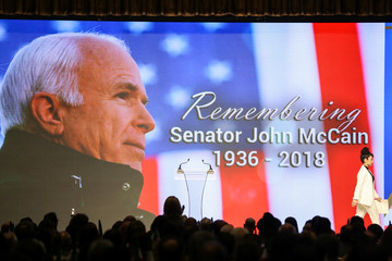Late senator John McCain is honored during the 2018 Iran Uprising Summit in New York