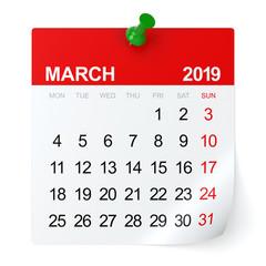 March 2019 - Calendar.