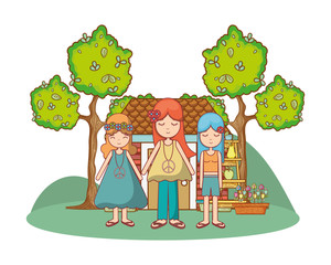 Hippie cute cartoons
