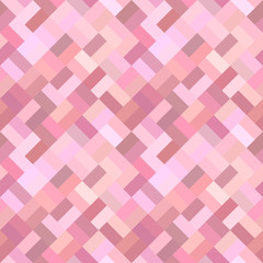 Pink seamless diagonal rectangle pattern - vector tile mosaic background graphic