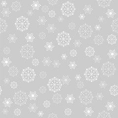 Christmas background with snowflakes seamless vector illustration