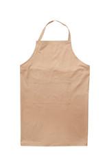 Clean chef's apron on white background. Part of uniform - fototapety na wymiar