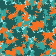 Color clouds seamless pattern vector seamless fashion camo design. Trendy camouflage fabric pattern.
