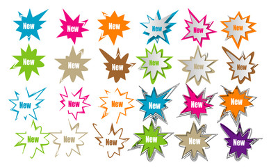 collection of star sticker label design icon stamp illustration vector