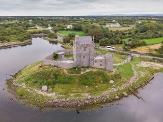 Aerial View of Dunguaire Castle
