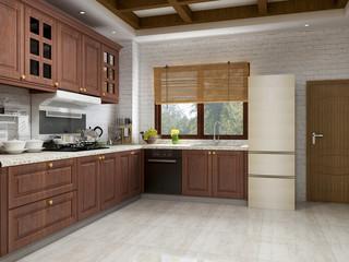 European pastoral retro kitchen
