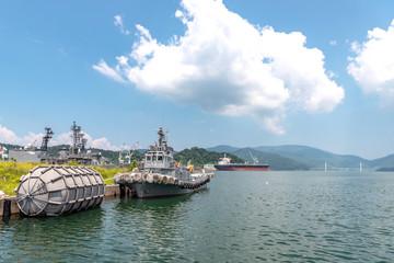 Fotorolgordijn Poort 舞鶴湾の風景