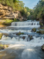 Water falls at Willow River Park, Wisconsin