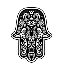Hamsa or hand of Fatima.