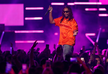 Rapper Lil Jon performs during the iHeartRadio Music Festival at T-Mobile Arena in Las Vegas
