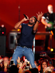 Luke Bryan performs during the iHeartRadio Music Festival at T-Mobile Arena in Las Vegas