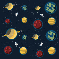 galaxy background vector illustration