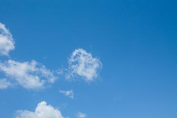 Blue sky and beautiful cloud.