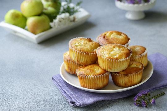 apple muffins dessert, healthy food