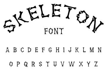 skeleton halloween font