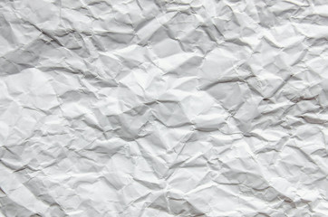 White background and wallpaper by crumpled paper texture and free space.