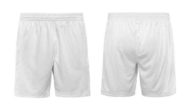 Short white pants isolated on white background