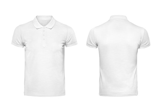 White polo tshirt design template isolated on white with clipping path