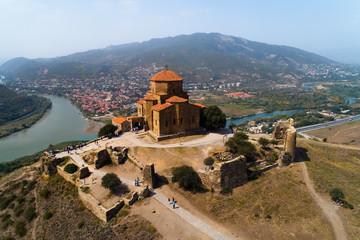 Fotobehang Chocoladebruin Monastery of the Holy Cross in Georgia.