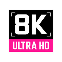 8k ultra hd deep pink