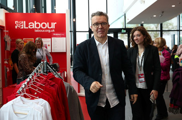 Britain's Deputy Leader of the Labour Party Tom Watson arrives at the annual Labour Party Conference in Liverpool