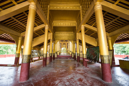 The complex building of Mandalay Palace, Myanmar.
