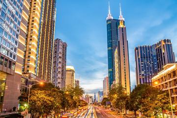 Shenzhen Luohu District urban night scene