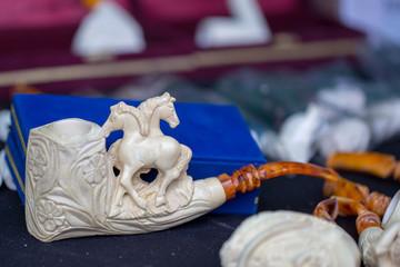 meerschaum pipe and trinkets made eskişehir turkey