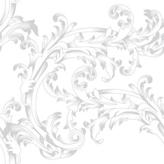 Black vintage floral ornament pattern, Vector.