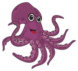 octopus, marine octopus, purple octopus, purple, eight, cartoon, marine life, smile