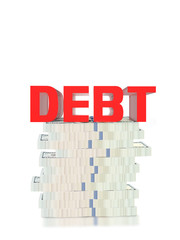 3D debt,debt red text,Liability must be corrected.
