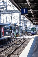 Fushimi-Inari Station is a railway station located in Fushimi-ku at tourists to visit come down the Fushimi Inari Shrine, Kyoto, Japan.