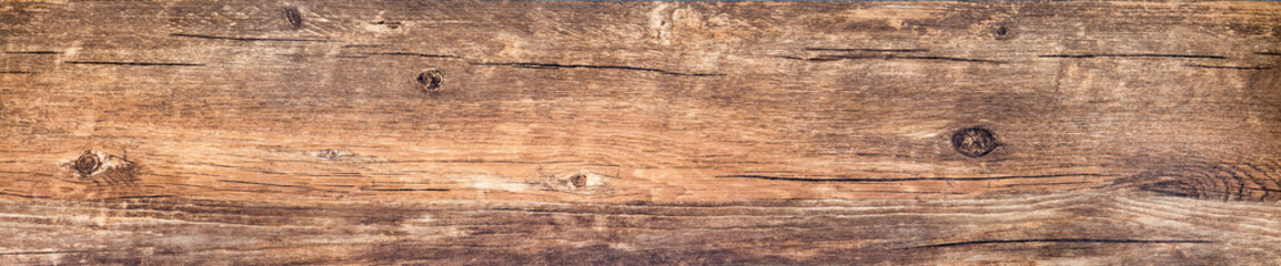 Horizontal banner with vintage wood texture