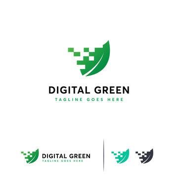 Digital Green logo designs, Nature Tech logo symbol